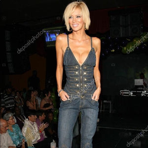 My runway jean overall one of a kind
