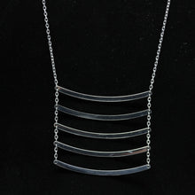 14kt White Gold Dipped The Five Necklace