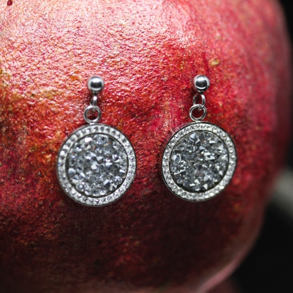 18kt Gold Dipped Swarovski Moroccan Round Earrings