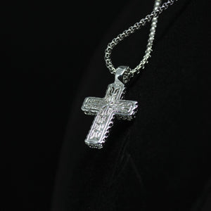 18KT Gold Dipped Iced Detailed Cross Necklace