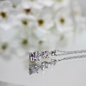 925S Tacori Princess White Topaz Drop Necklace