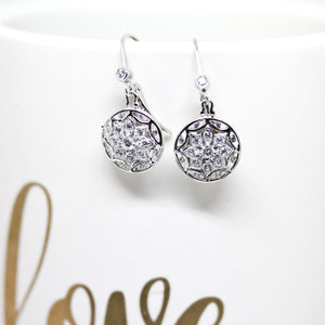 Tacori Silver 925 Sterling Diamonique Earrings