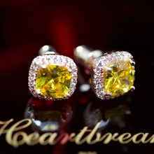 925S 14kt Rose Gold Dipped Yellow Topaz Earrings