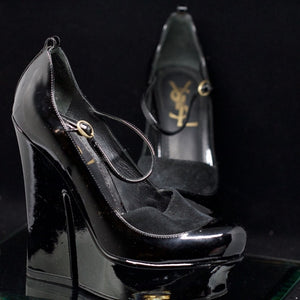 My YSL Black and Velvet Shoes