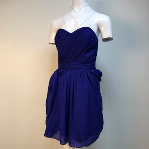 Exclusive for Intermix blue strapless draped dress