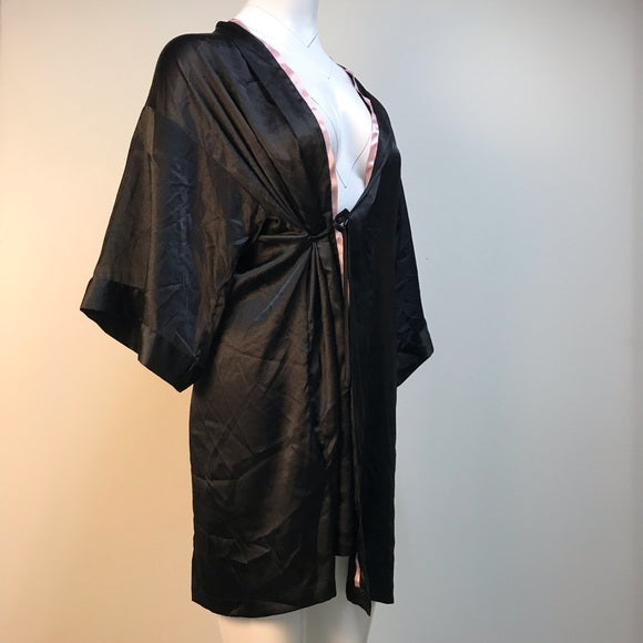 My vintage sexy soft and comfy black silk robe