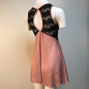Double Zero blush and sheer lace nightie lingerie