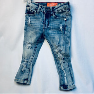 """TushTush"" Toddlers distressed cutest summer jeans"