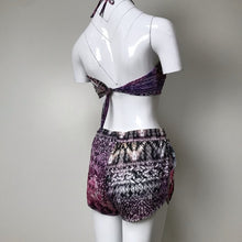 My vintage purple tribal print bikini with shorts
