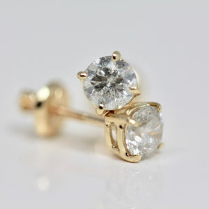 Yellow Gold Tiffany Style Diamond Studs