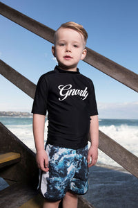 Rock your Kid Gnarly rashie - Black