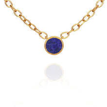 Temple of the Sun Lapis necklace gold