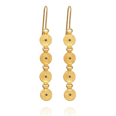 Temple of the Sun Atlas earrings Gold