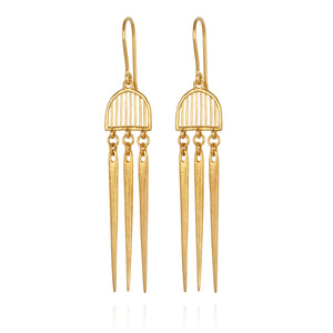 Temple Of The Sun Zahleh Earrings Gold