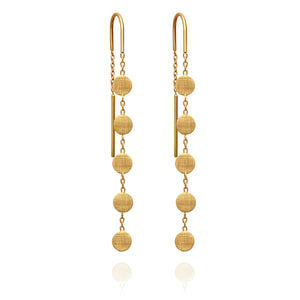 Temple of the Sun Gala Earrings Gold