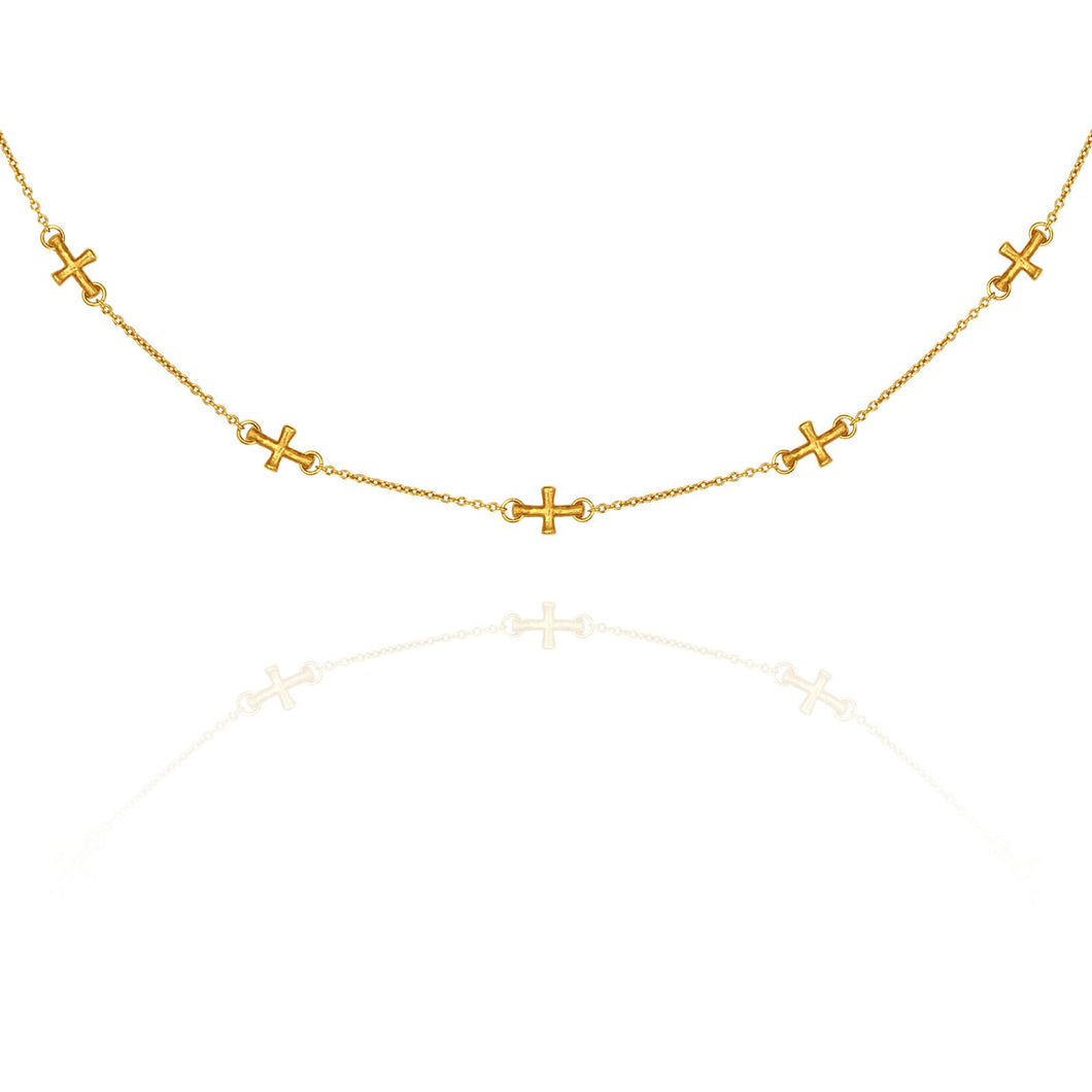 Temple of the Sun Cross necklace gold