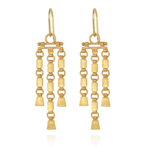 Temple Of The Sun Sharni Earrings Gold
