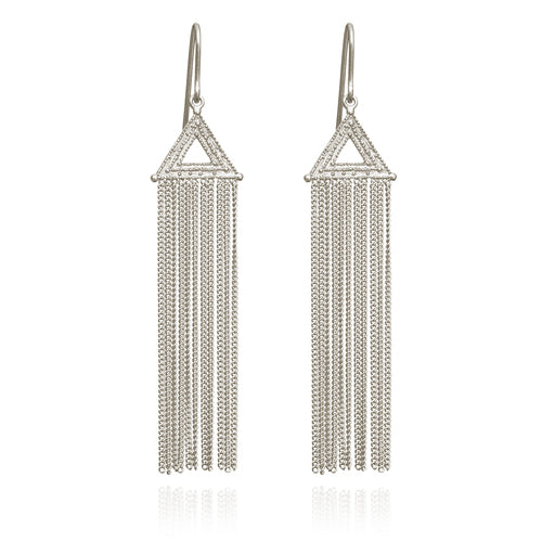Temple of the Sun Amica Earrings Silver