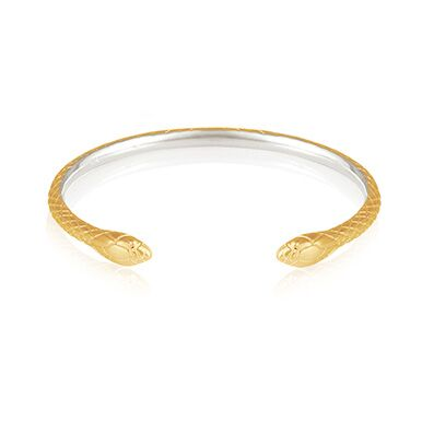 Temple of the Sun Serpent Cuff Gold/Silver