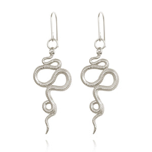Temple of the Sun Snake earring silver