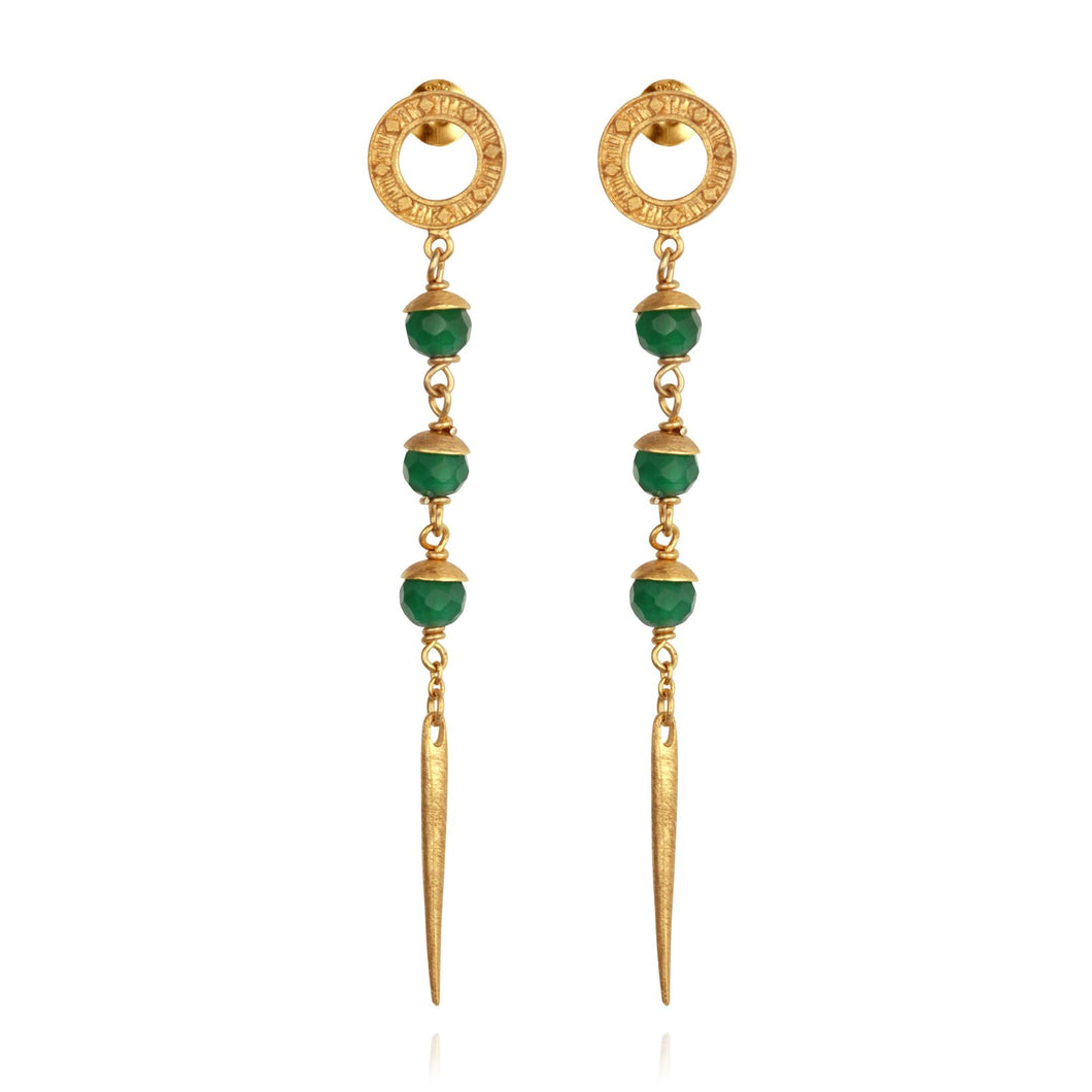 Temple of the Sun Talia earrings gold