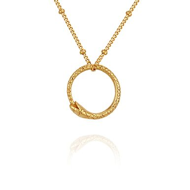 Temple of the Sun Serpent necklace gold
