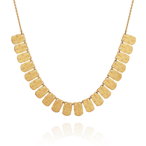 Temple of the Sun Hellenic Necklace GOLD Brushed