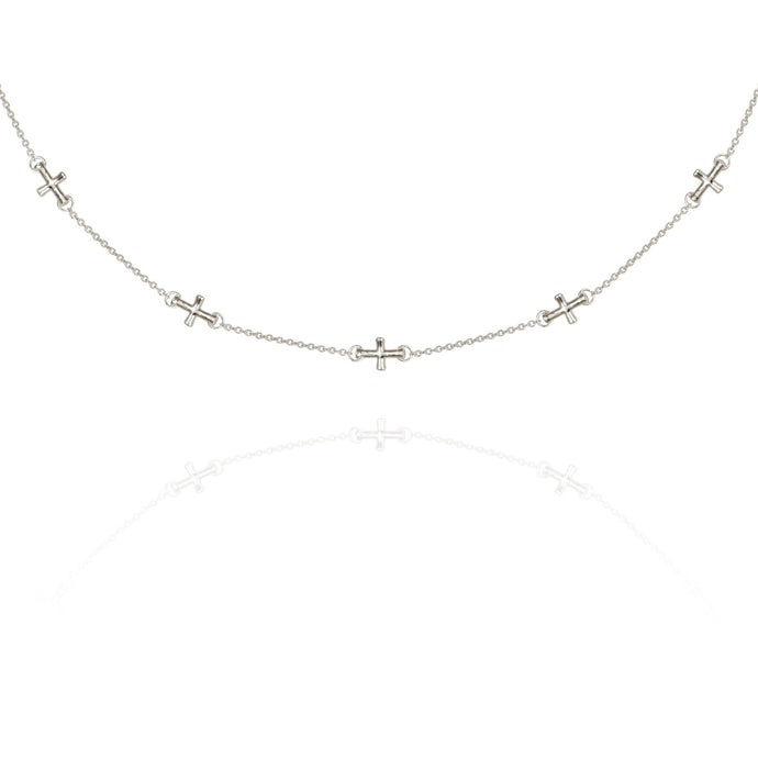 Temple of the Sun Cross necklace silver
