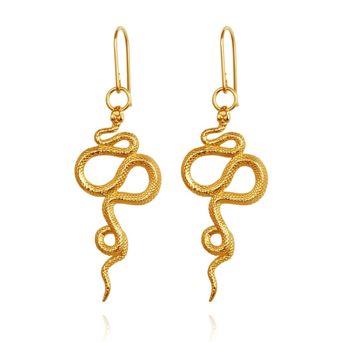 Temple of the Sun Snake earring gold