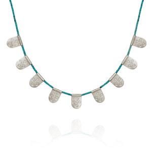 Temple of the Sun Anatolia Necklace w/Turquoise Silver