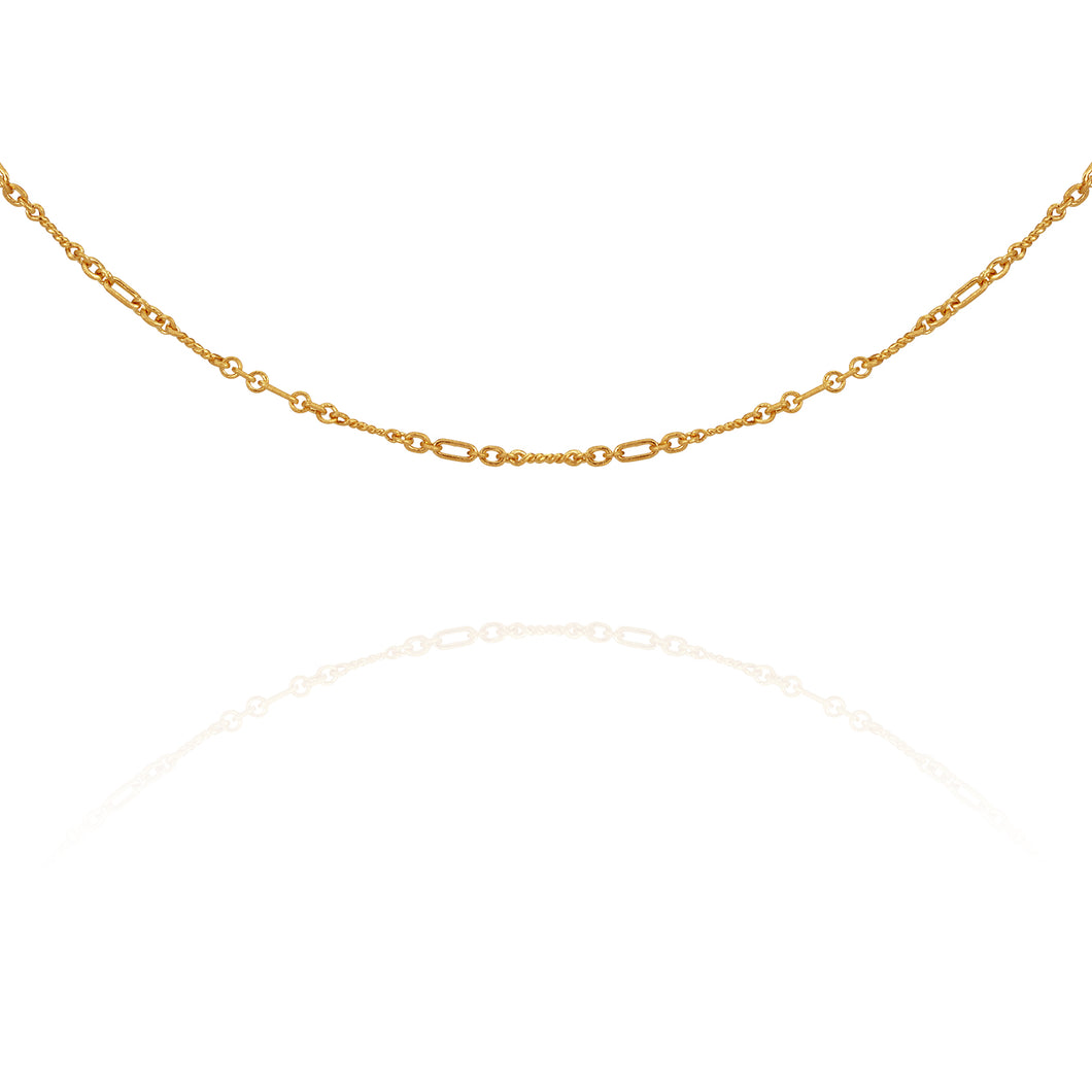 Temple of the Sun Twisted Chain Necklace Gold