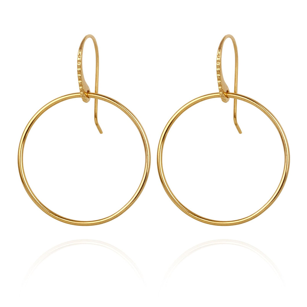 Temple of the Sun Hydra Earrings Gold