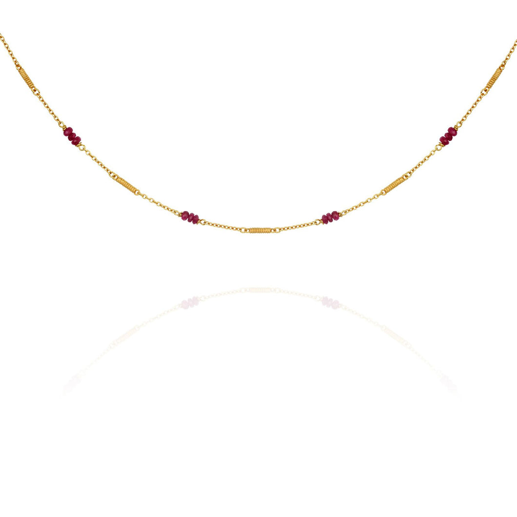 Temple of the Sun Quinn Ruby necklace