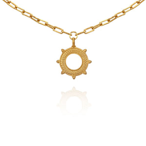 Temple Of The Sun Asha Necklace Gold