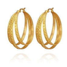 Temple of the Sun Melina hoop gold