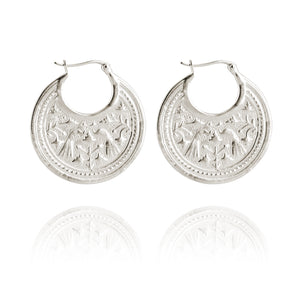 Temple of the Sun Peacock Earring Silver