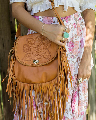 Mahiya Vintage Rose bag tan