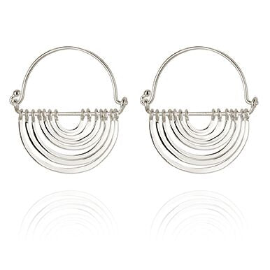 Temple of the sun Baye earrings Silver