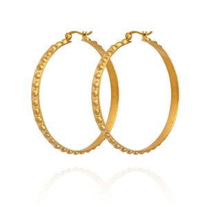Temple of the Sun Marni hoop earrings gold
