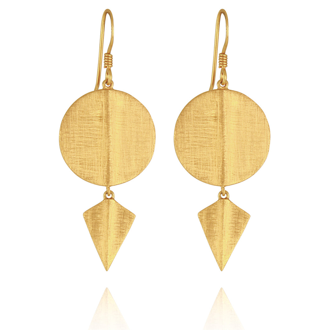Temple of the Sun Aegean Disc Earrings gold