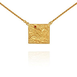 Temple of the sun Pheonix necklace gold