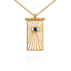 Temple of the Sun Eye necklace gold