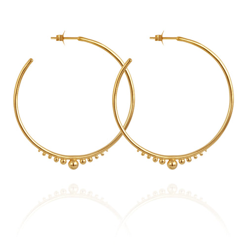 Temple of The Sun Diona Earrings gold
