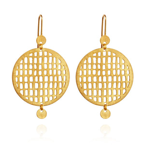 Temple of the Sun Pax earrings gold