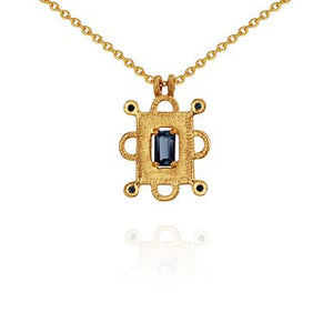 Temple of the Sun Azure necklace gold