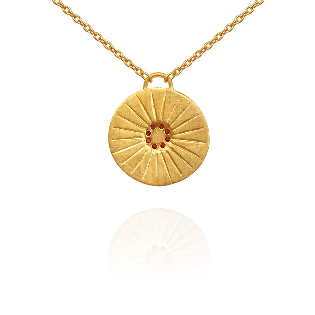 Temple of the Sun Aurora garnet necklace gold
