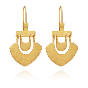 Temple of the Sun Lilu Earrings Gold