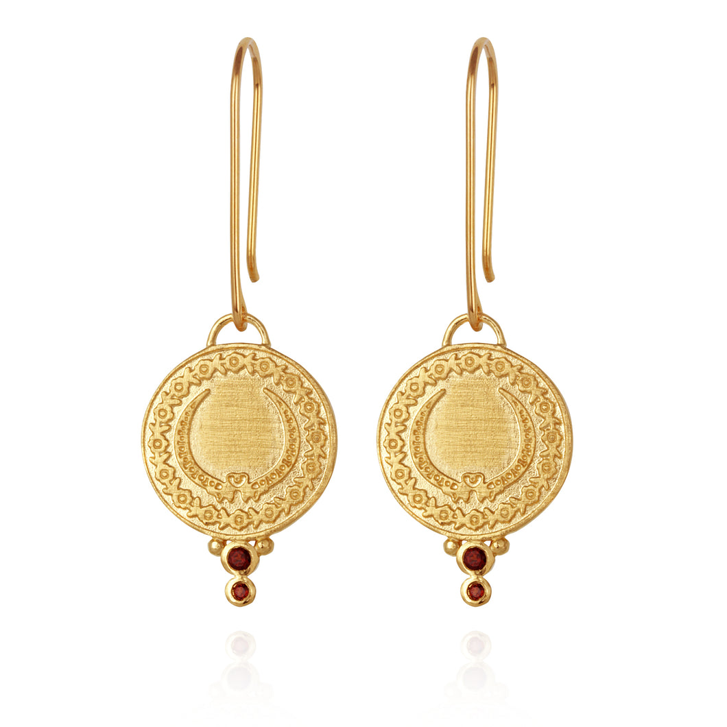 Temple Of The Sun Ariana Earrings Gold