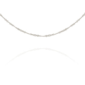 Temple of the Sun Twisted Chain Necklace Silver