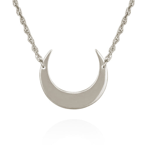 Temple of the Sun Selene Crescent Moon Necklace SILVER